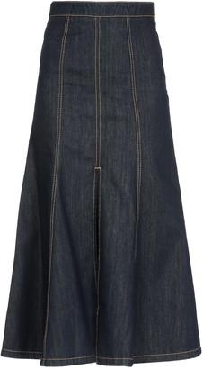 Kenzo Long Mermaid Denim Skirt