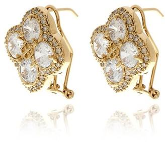 Georgina Jewelry Diamond Flower Earrings