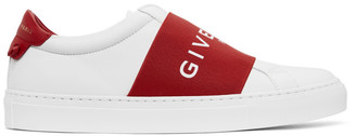 Givenchy White and Red Elastic Urban Street Sneakers