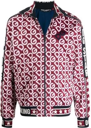 Dolce & Gabbana Zip-Up Technical Jersey Sweatshirt
