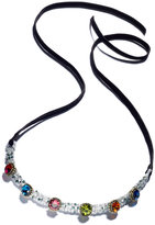 INC International Concepts Anna Sui x Beaded & Crystal Ribbon Choker Necklace, Created for Macy's