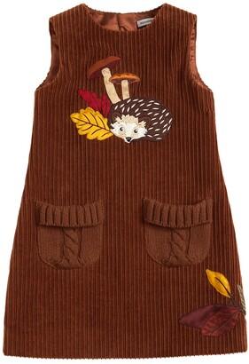 Dolce & Gabbana Hedgehog Corduroy Sleeveless Dress