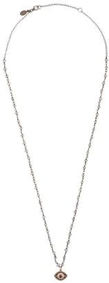 14kt rose gold Mykonos diamond Lucky Eye pendant necklace