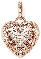 "Thomas Sabo Heart Medallion"" Gold Plated Rose Gold/Zirconia Pendant"