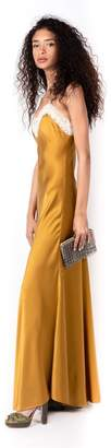 Miguelina Jacquelyn Antique Gold Silk Slip Dress
