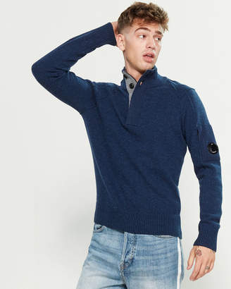 C.P. Company Wool Mock Neck Sweater
