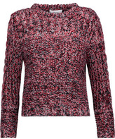 Carven Cable Knit-Paneled Marled Knitted Sweater