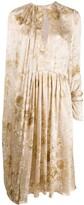 Magda Butrym Vasto key-hole neckline dress