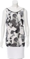 Helmut Lang Sleeveless Printed Top w/ Tags