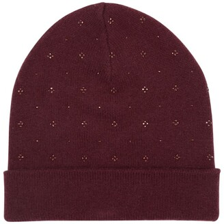 William Sharp Cashmere Crystal-Embellished Beanie Hat