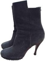 Balenciaga Grey Suede Ankle boots