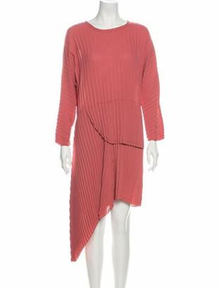 DELFI Collective Bateau Neckline Midi Length Dress Pink