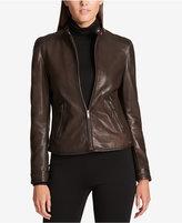 DKNY Plus Size Leather Jacket