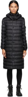 Moncler Black Down Algores Belted Long Coat