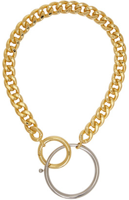 MM6 MAISON MARGIELA Gold and Silver Mixed Chunky Necklace