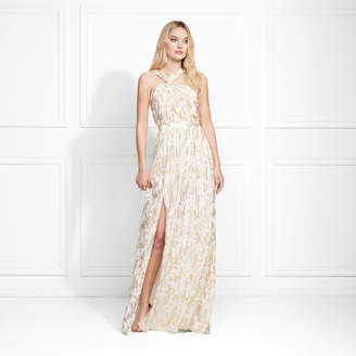 Rachel Zoe Bella Metallic Fil Coupe Maxi Gown