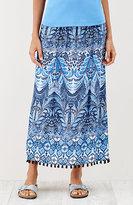 J. Jill Fringe-Trimmed Print Skirt