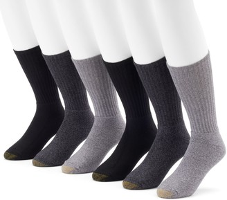 Gold Toe Men's GOLDTOE 6-Pack Harrington Crew Socks