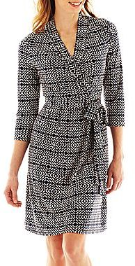 Liz Claiborne Faux-Wrap Dress
