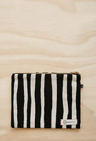 Forever 21 FOREVER 21+ Half United Striped Zipper Pouch