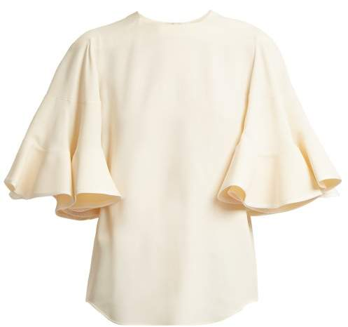 Chloé Fluted sleeve cady top