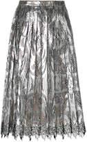 Marco De Vincenzo pleated lace midi skirt