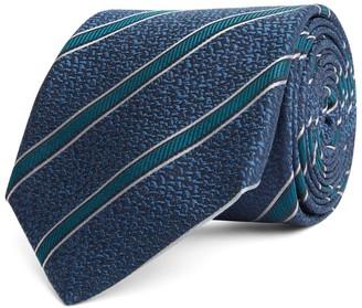 Canali Silk Diagonal Print Tie