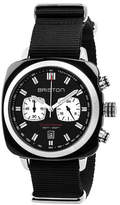 Briston Clubmaster Sport Acetate Chronograph Watch, Black/White
