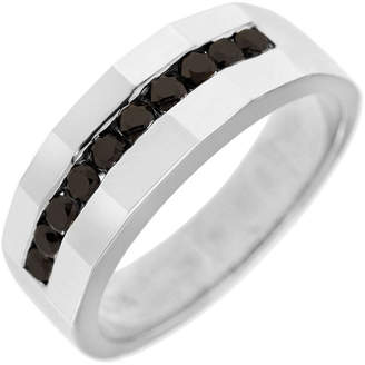 Black Diamond MODERN BRIDE Mens 8.5MM 1/2 CT. T.W. Genuine 10K Gold Wedding Band