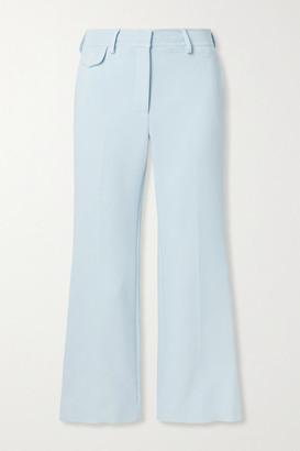 Sies Marjan Dese Cropped Stretch-crepe Flared Pants - Sky blue