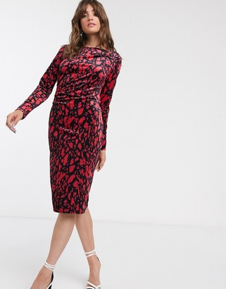 InWear Oma leopard print midi dress