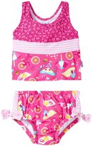 I Play 2 Piece Bow Tankini Swimsuit Set (Baby/Toddler) - Hot Pink Cabana - 12-18 Months
