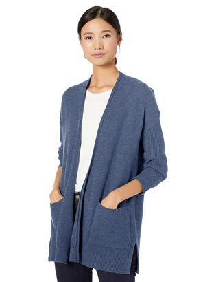 Goodthreads Amazon Brand Women's Wool Blend 3/4-Sleeve Honeycomb Cocoon Sweater
