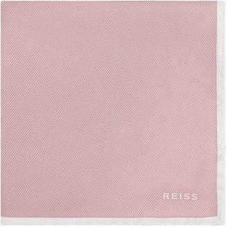 Reiss MOON SILK POCKET SQUARE Dusty Pink
