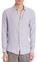 Onia Abe Linen Button-Down Shirt