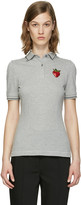 Dolce & Gabbana Grey Strawberry Patch Polo