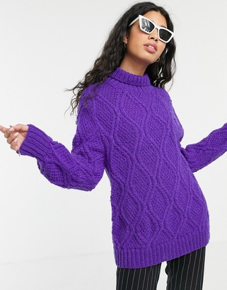People Tree hand knitted fisherman's sweater