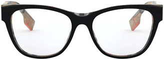 Burberry Be2301 Top Black On Vintage Check Glasses