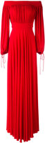 Alexander McQueen off the shoulder evening dress - women - Silk/Polyamide/Spandex/Elastane/Viscose - 40