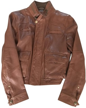 Polo Ralph Lauren Brown Leather Leather jackets