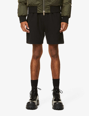 DSQUARED2 Branded wide-leg cotton-jersey shorts