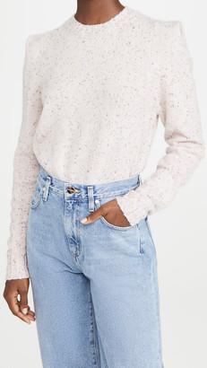 Autumn Cashmere Square Pleat Shoulder Cashmere Sweater