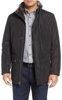 Cole Haan Men's Faux Fur Lined Water-Resistant Parka