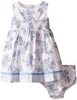 Us Angels Cotton Poplin Tank Dress w/ Smock Waist & Full Skirt (Infant)