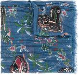 Saint Laurent car print drape scarf - men - Silk/Cashmere - One Size