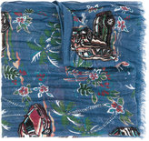Saint Laurent car print drape scarf