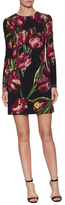 Dolce & Gabbana Silk Flower Printed Short Dress