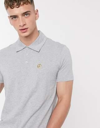 Love Moschino peace polo shirt-Grey