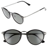 Persol Men's Sartoria Typewriter 51Mm Polarized Sunglasses - Black/ Green