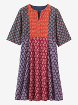 Toast Block Print Cotton Dress